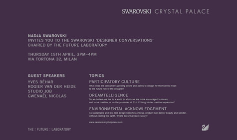 Salone Milan 2010 – Swarovski Designer Conversations