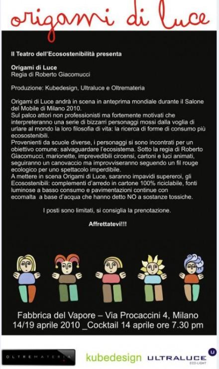 Salone Milan 2010 – Origami di Luce