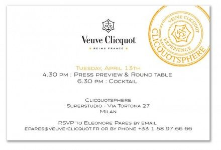 Salone Milan 2010 – Veuve Clicquot(sphere)