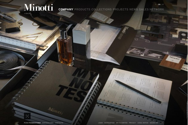 Minotti releases its beautiful new website