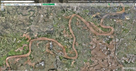 Brisbane floods – satellite imagery