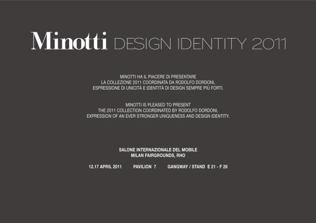 Minotti Design Identity @ Milan Design Week 2011