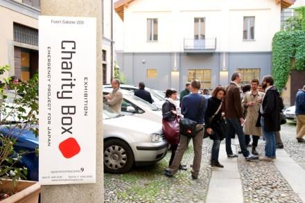 Charity Boxes for Japan @ Milan Design Week 2011