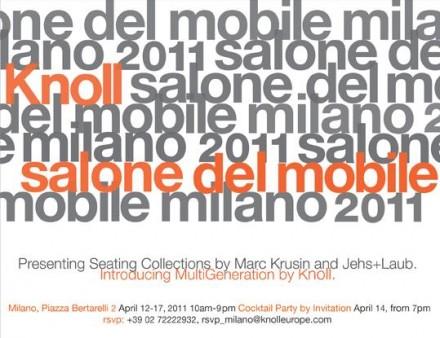 Knoll @ Milan Design Week 2011