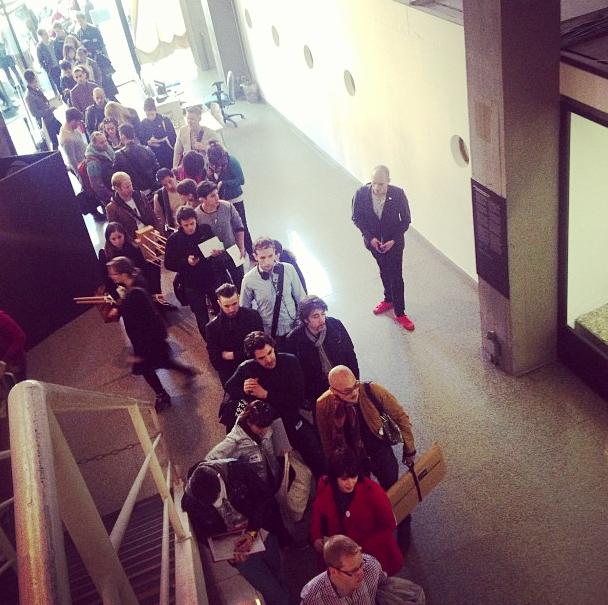 queue to get in