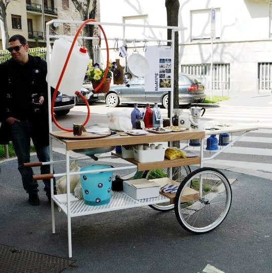 salone milan food cart