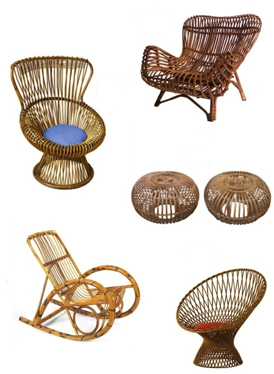 Franco-Albini-cane-chairs for vittorio bonacina