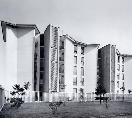 Franco Albini e Ignazio Gardella, grandi nomi dell'architettura italiana del Dopoguerra, sono i progettisti di questo insediamento IACP (1950-52)