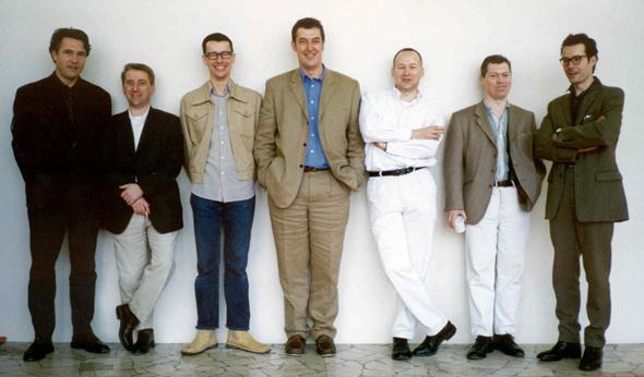 Matthew Hilton, James Irvine, Michael Marriott, Sheridan Coakley, Terence Woodgate, Jasper Morrison and Konstantin Grcic, Milan 1996