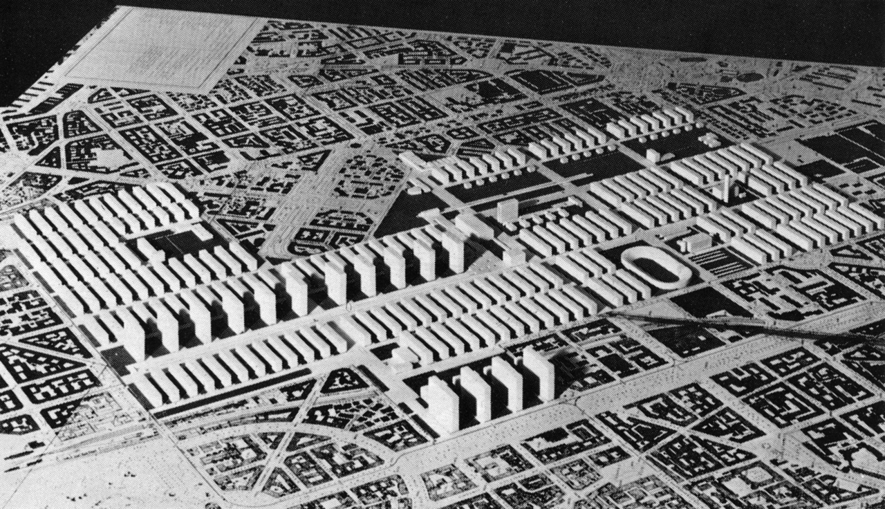 Plan for the Sempione Zone, Milan, Italy, 1938