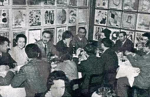 al ristorante La Colomba Venezia. Helg, Albini, Levi, Belgiojoso, Scarpa, Gardella ...