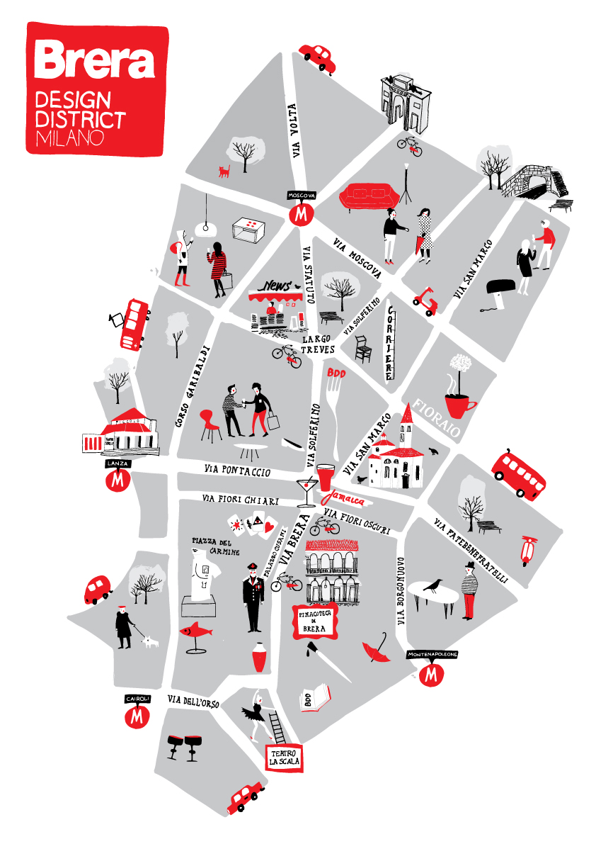 brera design district map