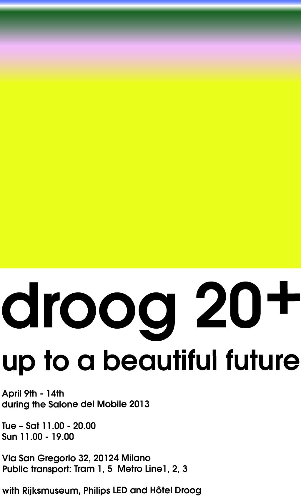 droog 20+ invitation