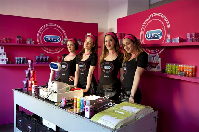 durex pop up store