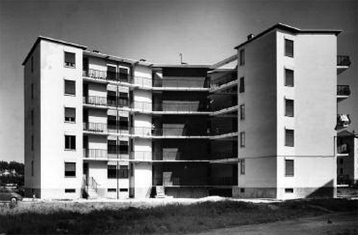 franco albini - mangiagalli, iacp housing, milan, 1953