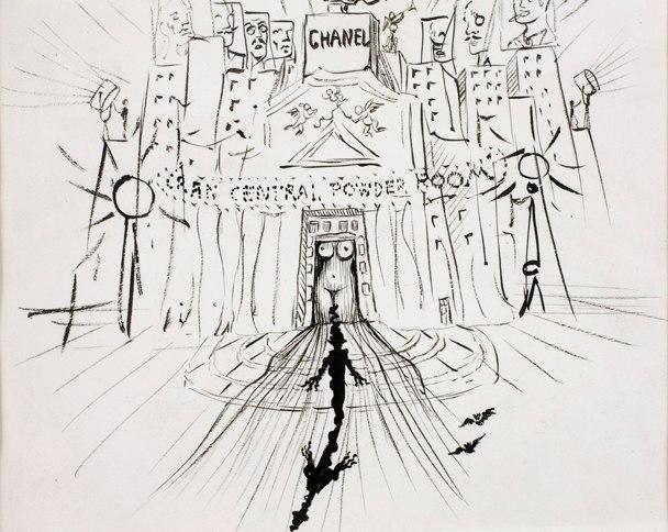 Salvidor Dalí's Grand Central Powder Room, circa 1937