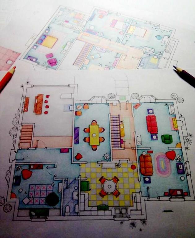 TV + Movie Home Floor Plans by Lizarralde