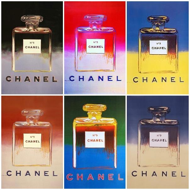 warhol posters chanel