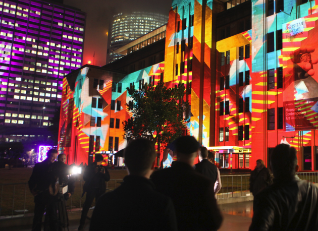 Lighting up the M.C.A @ Vivid Sydney