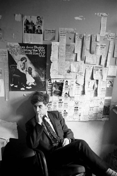 Richard Walsh - Editor - At the Hunter Street Sydney offices of OZ Magazine - 1969