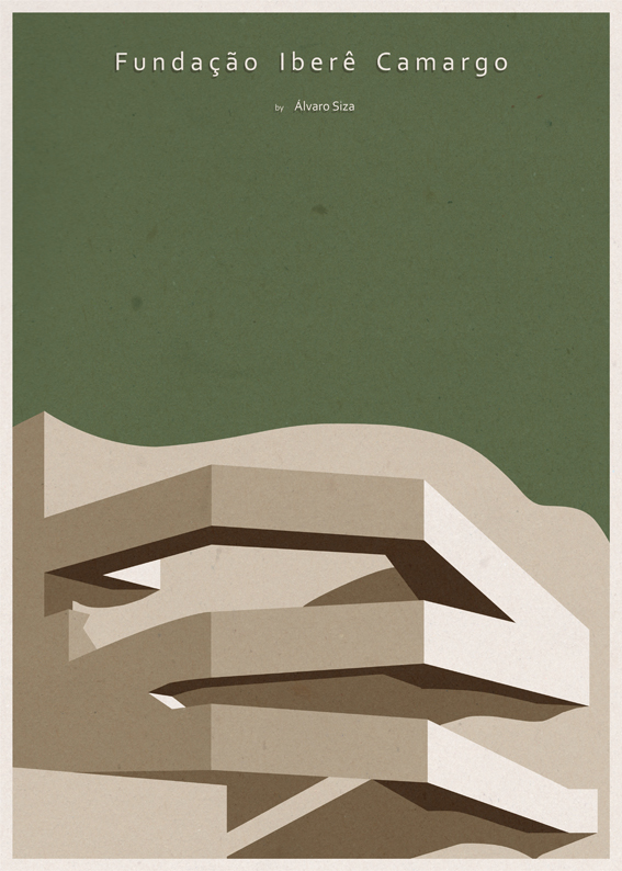 Iconic Architectural Posters by André Chiote