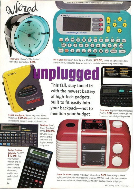 20 years ago tech gadgets