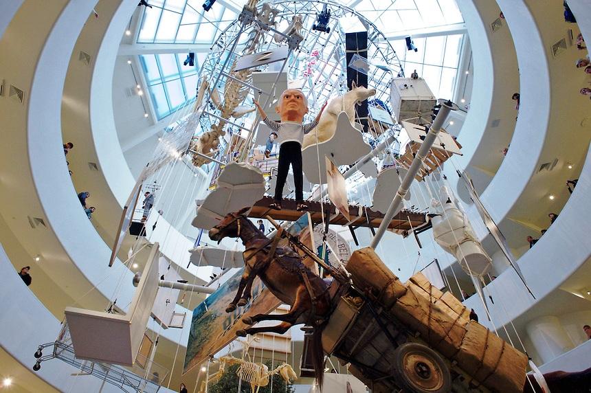 Maurizio Cattelan retrospective  Guggenheim Museum, New York City, January 2012