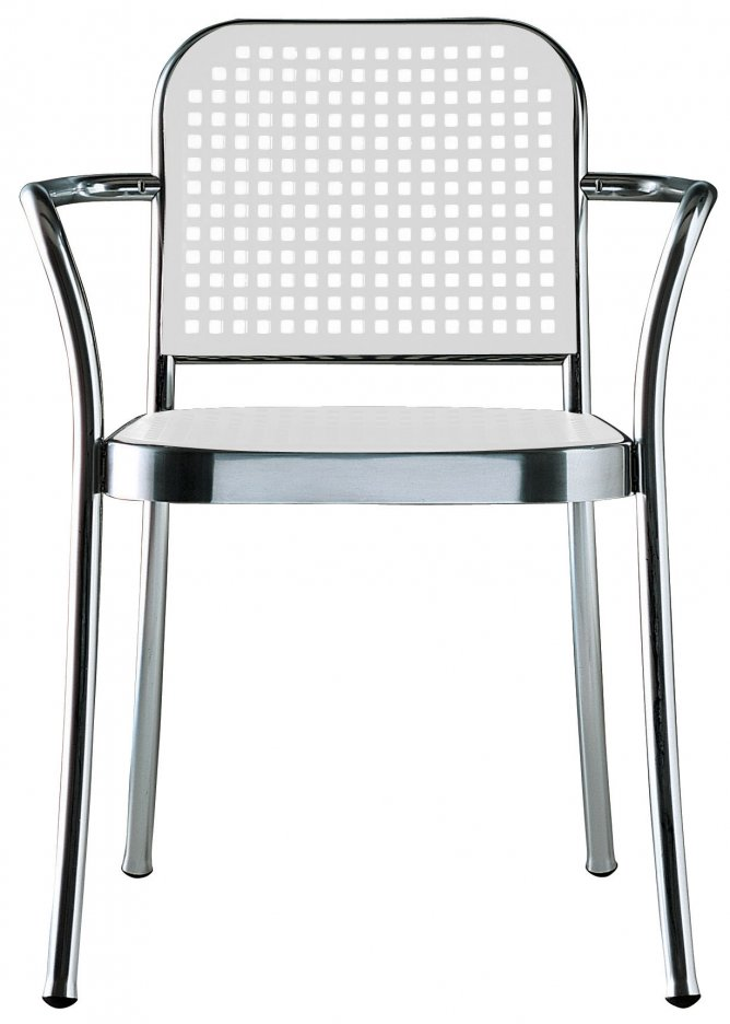 silver chair by vico magistretti