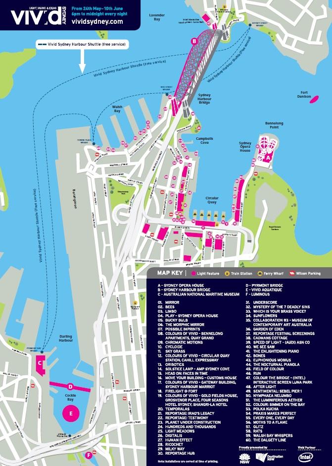 vivid sydney 2013 map