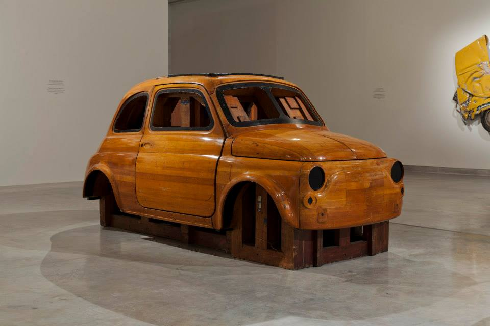 Fiat Wood mould for the Fiat 500, 1956, lent by the Fiat Archive and Museum