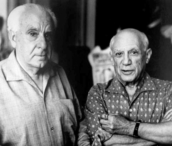 Zervos with Picasso