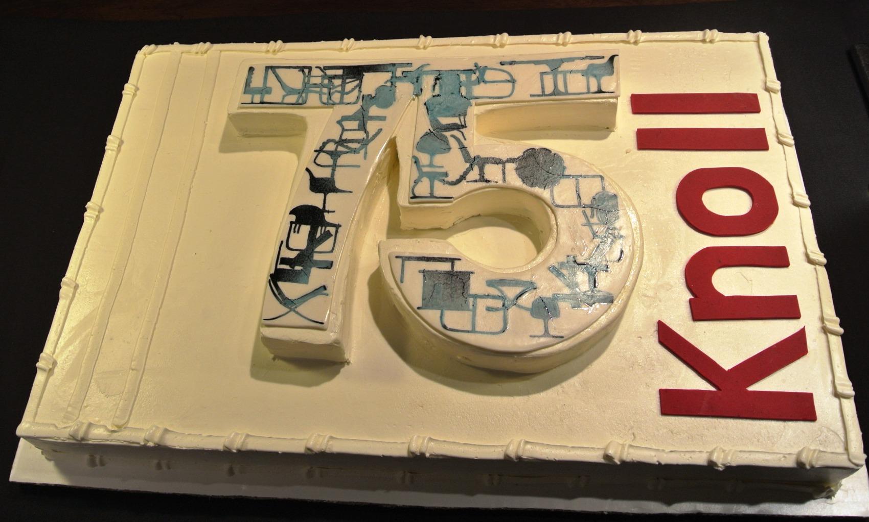 knoll 75 yrs cake