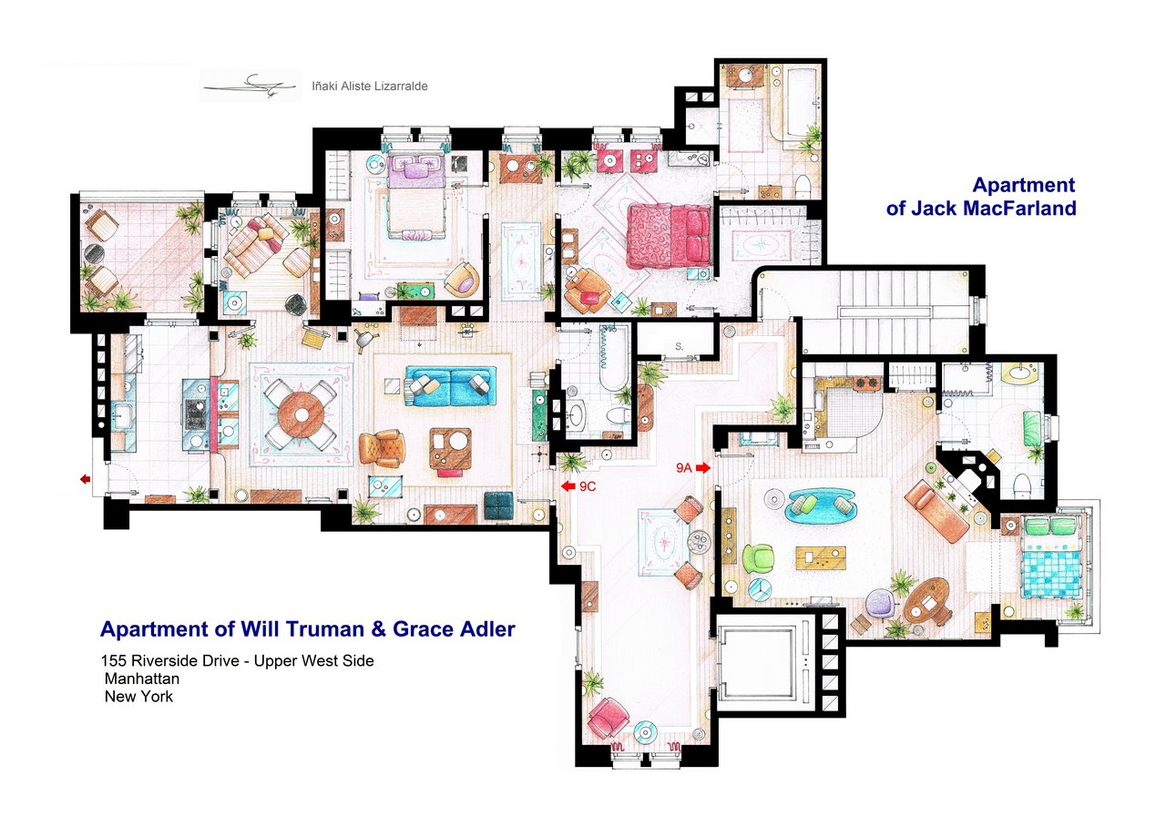 apartments_of_will_truman__grace_adler_and_jack