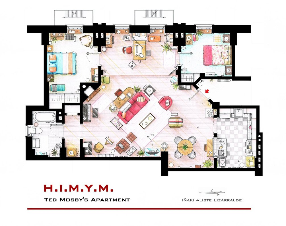 ted_mosby_apartment_from___how i met your mother