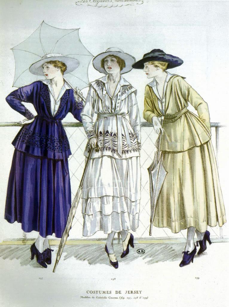 Chanel jersey_casual_wear_1917,_