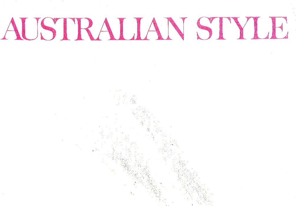 Australian Style book cover by Babette Hayes and April Hersey 1970