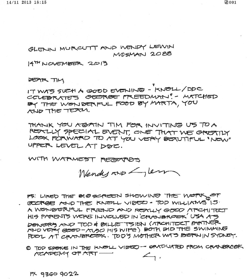 glenn murcutt letter