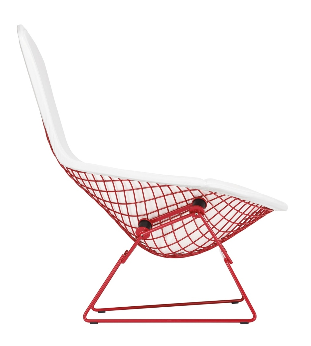 red bertoia bird chair