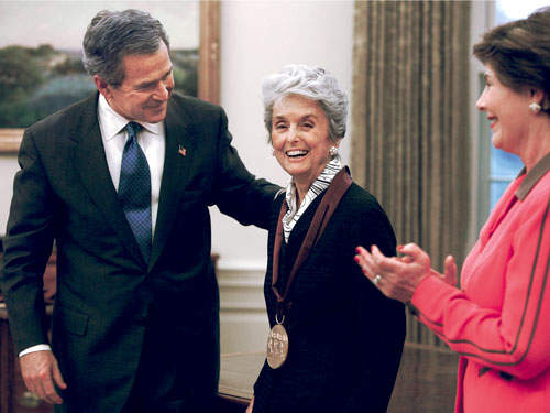 With George W and Laura Bush in 2003