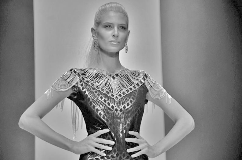 Neo Lace Capelet made in collab with Tessa Blazey at MSFW 2011
