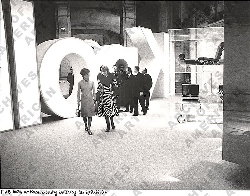 florence knoll at the knoll louvre exhibition 1972