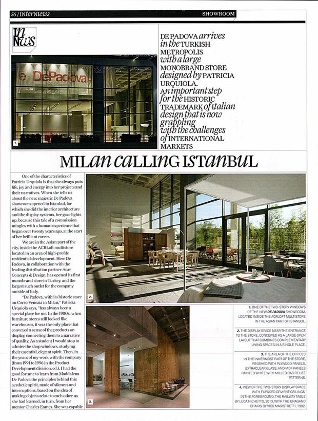 Milan calling Istanbul