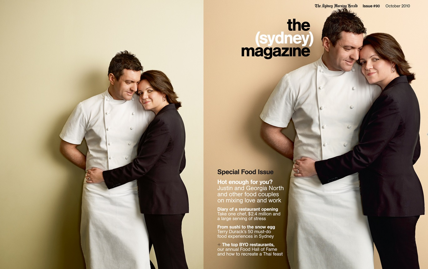 the Sydney magazine jusrin and georgia north oct 2010