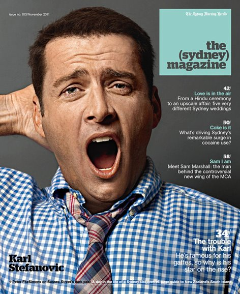 the sydney magazine karl stefanovic nov 2011