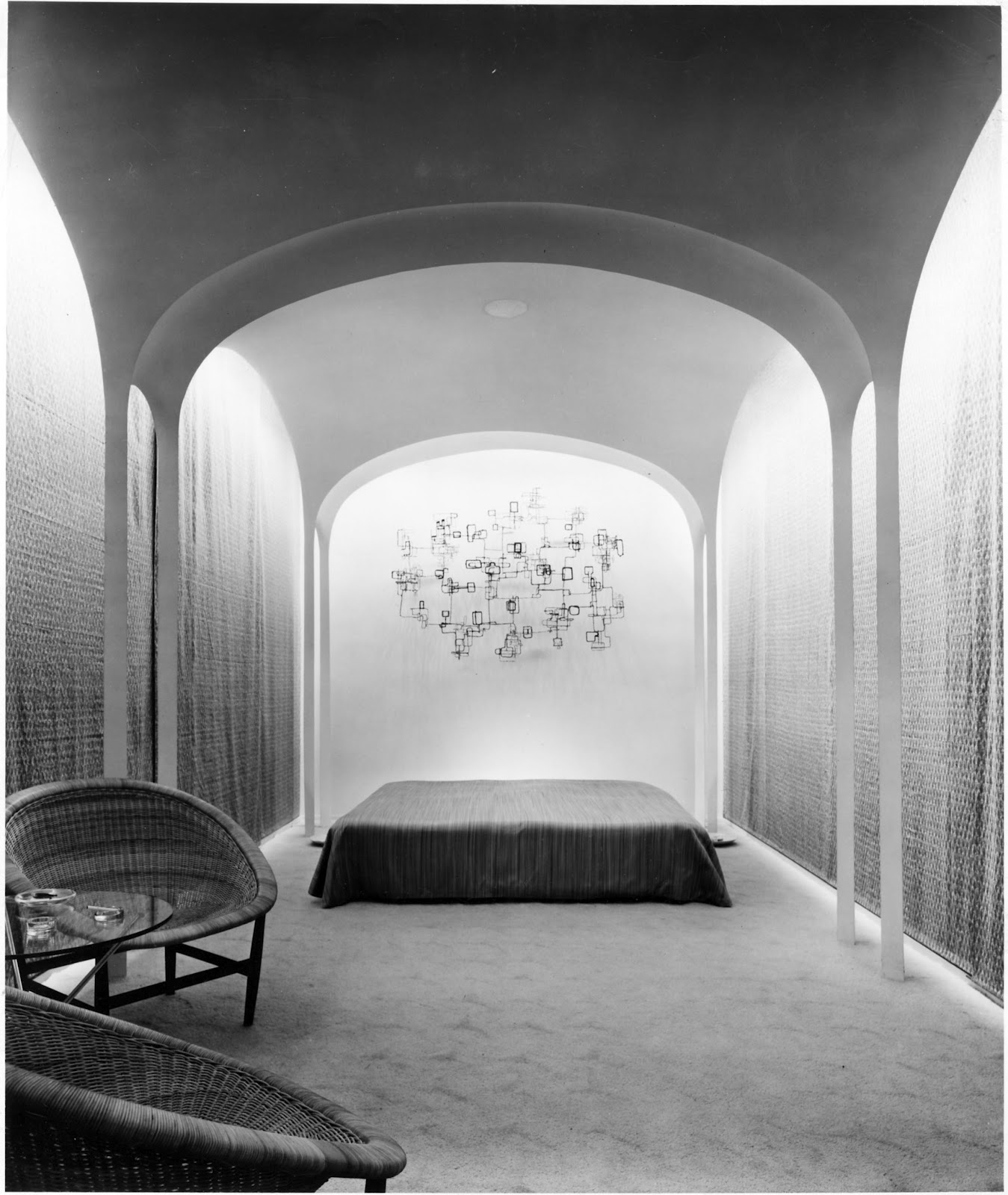 1953 Philip Johnson Own House New Canaan CT Guest House bedroom Credit Ezra Stoller Collection MoMA