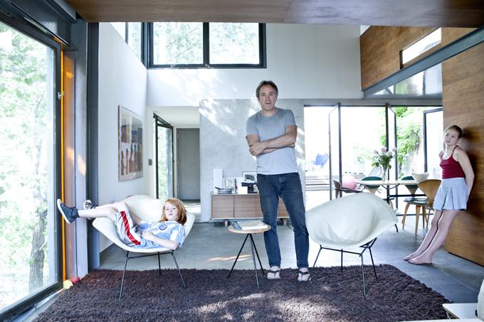Benjamin-Cherner-architect-his-two-children