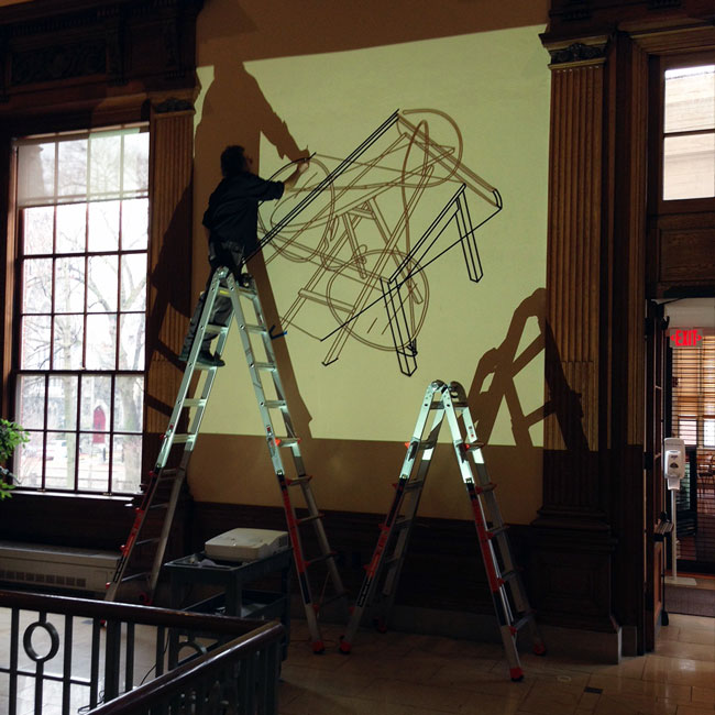 Craig-Martin_drawings at Harvard University's Barker Center