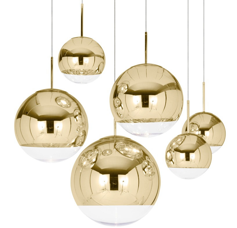 mirror ball gold