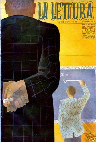 Cover by Bruno Munari, 1937, La Lettura magazine Milano.