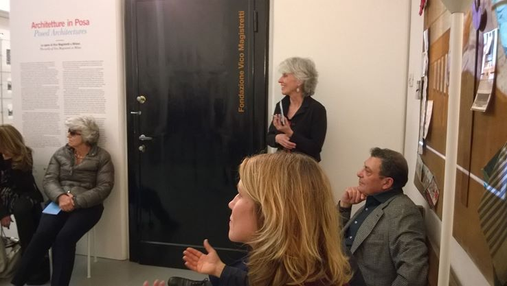 Rosanna Pavoni and Fulvio Irace at Fondazione studio museo Vico Magistretti.